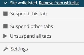 メニューsuspend other tab