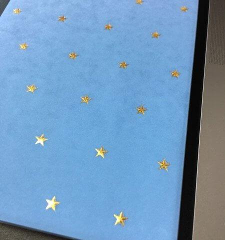 水色の手帳 星柄